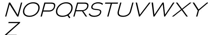 Biondi Sans Light Italic Font UPPERCASE