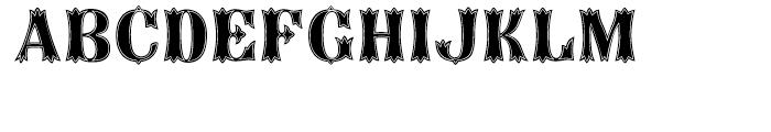 Birdcage Theatre Font UPPERCASE