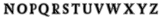 Biza Lined Font UPPERCASE