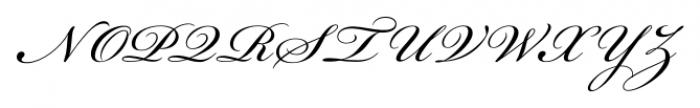 Bickham Script® Pro 3 Regular Font UPPERCASE
