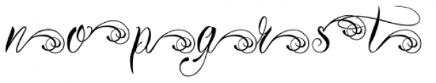 Bibiana Alt End Font LOWERCASE