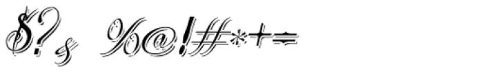 Bibiana Shadow Italic Font OTHER CHARS