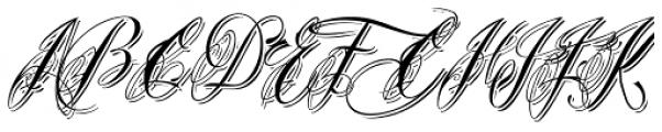Bibiana Shadow Italic Font UPPERCASE