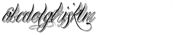 Bibiana Shadow Italic Font LOWERCASE
