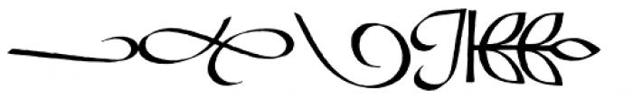 Bible Script EF Flourishes Font UPPERCASE