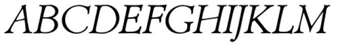 Biblia Serif Italic Font UPPERCASE