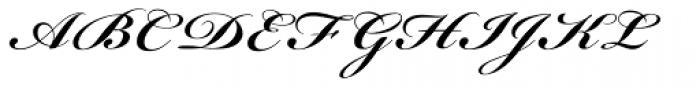 Bickham Script Pro Bold Font UPPERCASE