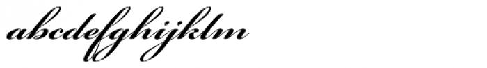 Bickham Script Pro Bold Font LOWERCASE