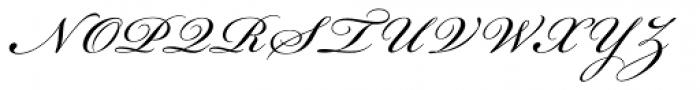Bickham Script Pro Regular Font UPPERCASE