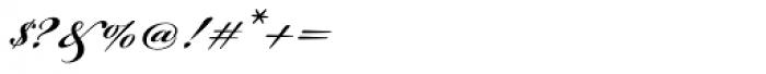 Bickham Script Pro SemiBold Font OTHER CHARS