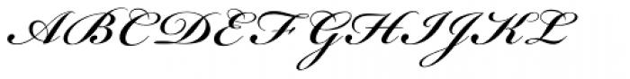 Bickham Script Pro SemiBold Font UPPERCASE