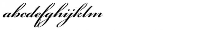 Bickham Script Pro SemiBold Font LOWERCASE
