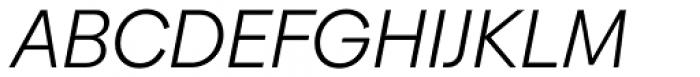 Biennale Book Italic Font UPPERCASE