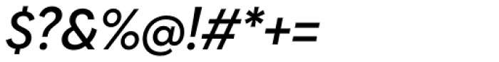 Biennale Medium Italic Font OTHER CHARS