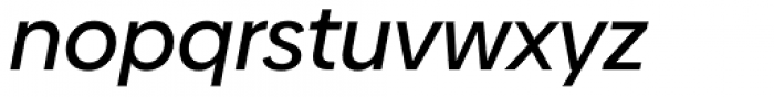 Biennale Medium Italic Font LOWERCASE