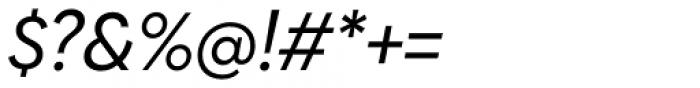 Biennale Regular Italic Font OTHER CHARS