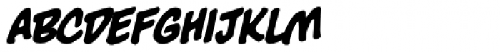 Big Bad Bold BB Italic Font LOWERCASE