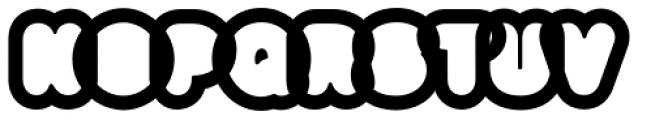 Big Black White Xtra Font UPPERCASE