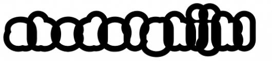 Big Black White Xtra Font LOWERCASE