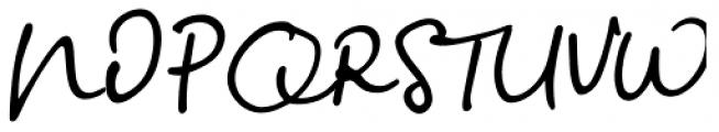 Big River Script Slant Font UPPERCASE