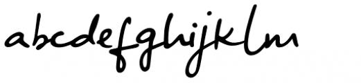 Big River Script Slant Font LOWERCASE