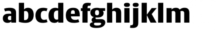 Big Vesta Pro Black Font LOWERCASE