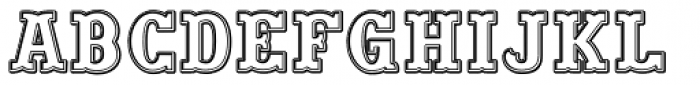 Big Yukon Stamp Font LOWERCASE