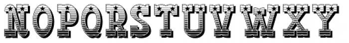 Big Yukon deko Font UPPERCASE