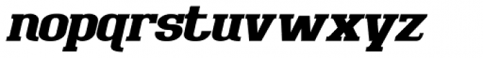 Bigboy Black Italic Font LOWERCASE