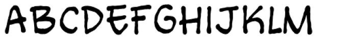 Bigmouth Regular Font UPPERCASE