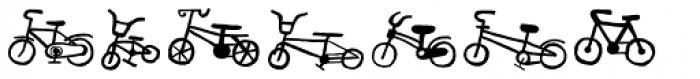 Bike Park Two Bike Font LOWERCASE