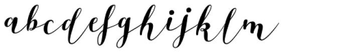 Bikini Season Script Font LOWERCASE