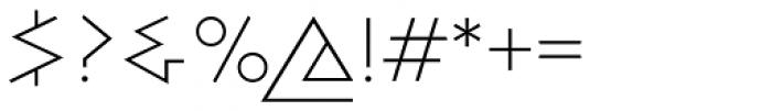 Bill Display Medium Extralight Font OTHER CHARS