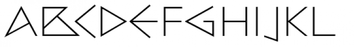 Bill Display Medium Extralight Font UPPERCASE