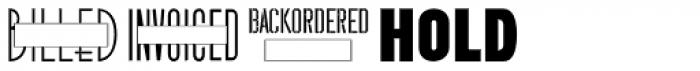 Billingand Shipping JNL Font UPPERCASE