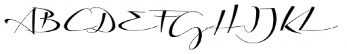 Biloxi Calligraphy Font UPPERCASE