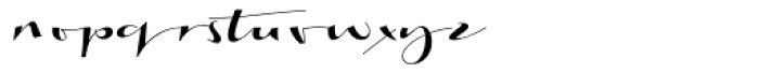 Biloxi Calligraphy Font LOWERCASE