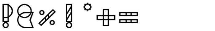 Binary Medium Font OTHER CHARS