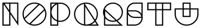 Binary Medium Font LOWERCASE