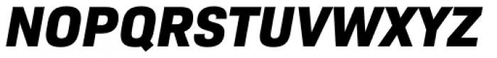 Bio Sans Extra Bold Italic Font UPPERCASE