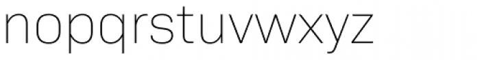 Bio Sans Extra Light Font LOWERCASE