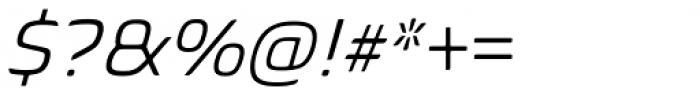 Biome Pro Basic Light Italic Font OTHER CHARS