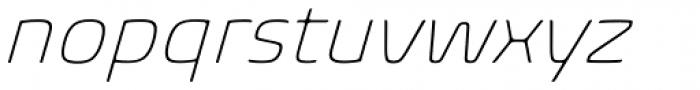 Biome Pro ExtraLight Italic Font LOWERCASE