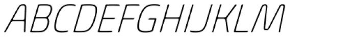 Biome Pro Narrow ExtraLight Italic Font UPPERCASE