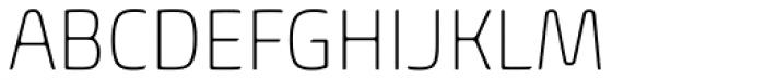 Biome Pro Narrow ExtraLight Font UPPERCASE