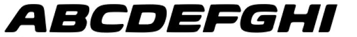 Biome Pro Wide Black Italic Font UPPERCASE