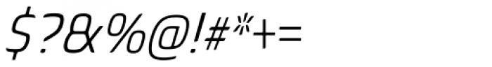 Biome Std Narrow Light Italic Font OTHER CHARS