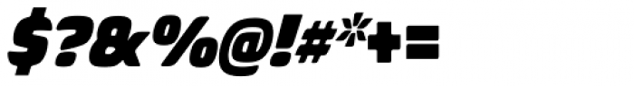 Biome Std Narrow Ultra Italic Font OTHER CHARS