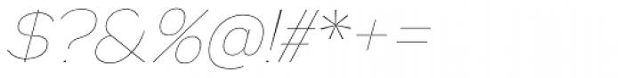 Biondi Sans UltraLight Italic Font OTHER CHARS
