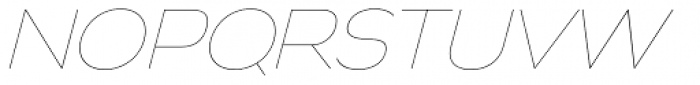 Biondi Sans UltraLight Italic Font UPPERCASE